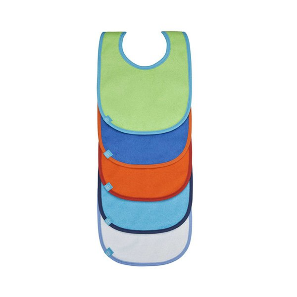Laessig Σαλιάρες σετ 5 τμχ Αδιάβροχες Solid colours unisex – Petit ... 9b2933b5d0d